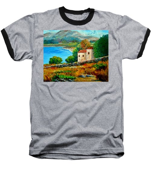 Old House In Mani Baseball T-Shirt