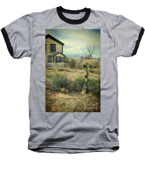 Baseball T-Shirt featuring the photograph Old House Near Mountians by Jill Battaglia