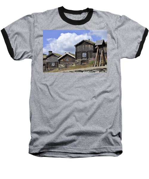 Old Houses In Roeros Baseball T-Shirt by Thomas M Pikolin