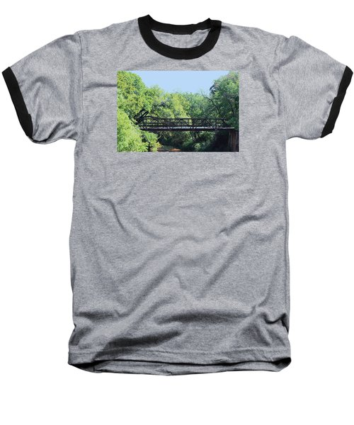 Baseball T-Shirt featuring the photograph Old Iron Bridge Over Caddo Creek by Sheila Brown