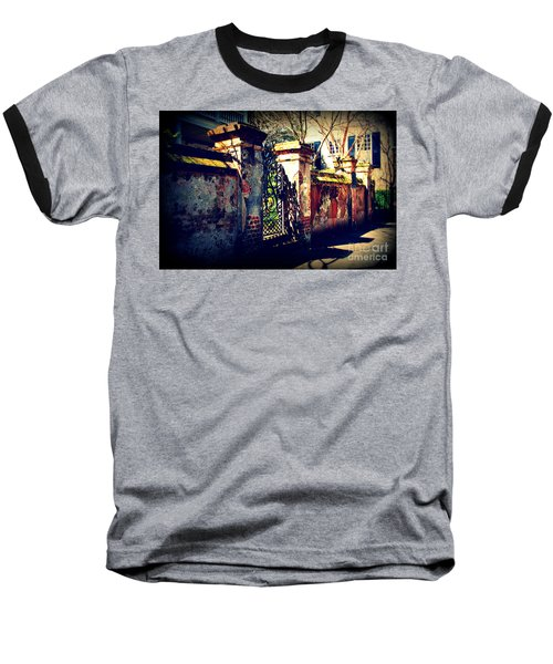 Old Iron Gate In Charleston Sc Baseball T-Shirt by Susanne Van Hulst