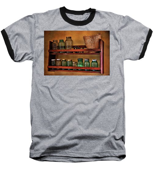 Baseball T-Shirt featuring the photograph Old Jars by Lana Trussell