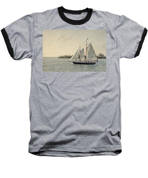 Old Key West Sailing Baseball T-Shirt