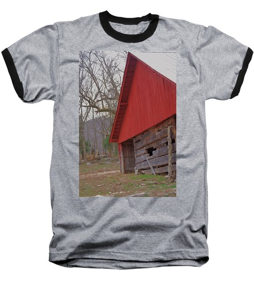 Baseball T-Shirt featuring the photograph Old Log Barn by Debbie Karnes