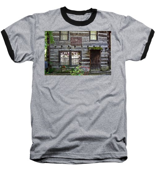 Old Log Building Baseball T-Shirt