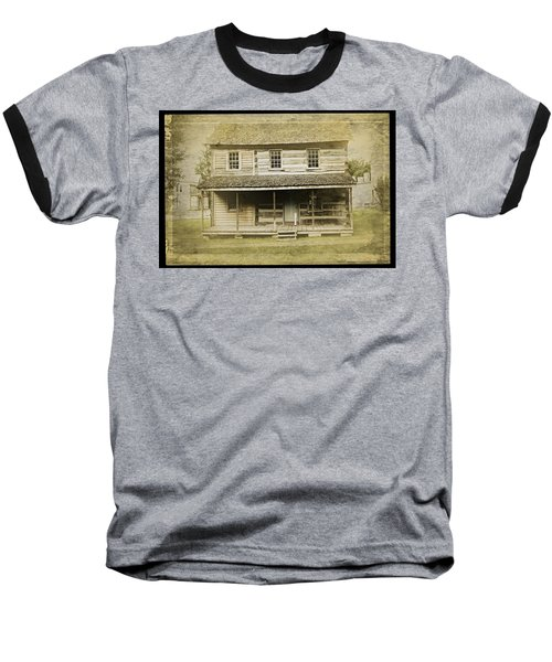 Baseball T-Shirt featuring the photograph Old Log Cabin by Joan Reese