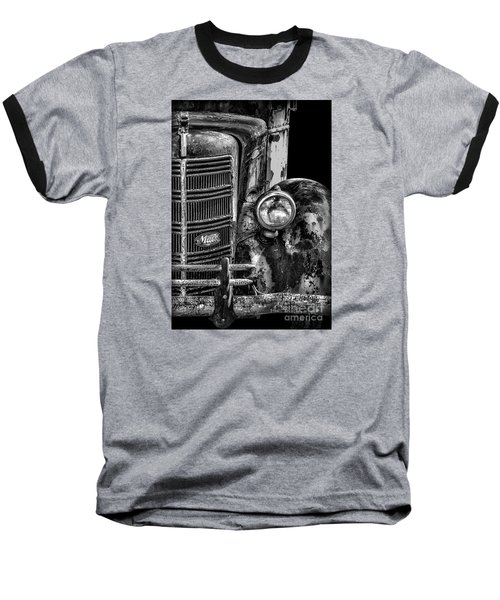 Old Mack Truck Front End Baseball T-Shirt by Walt Foegelle