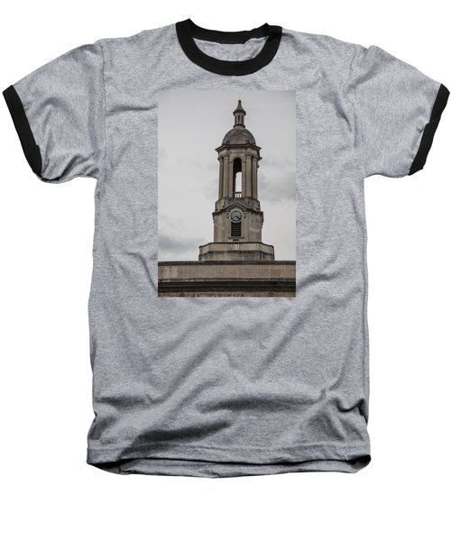 Old Main From Front Clock Baseball T-Shirt by John McGraw
