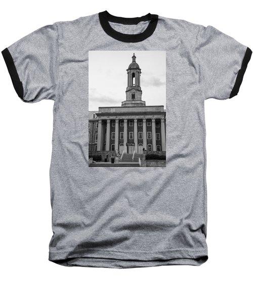 Old Main Penn State Black And White Baseball T-Shirt