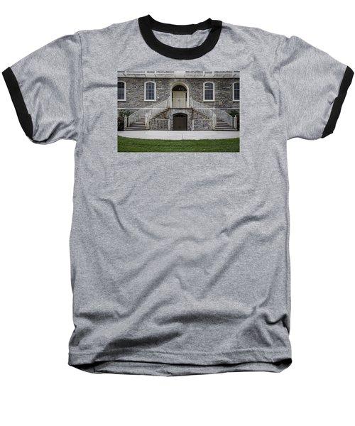 Old Main Penn State Stairs  Baseball T-Shirt by John McGraw