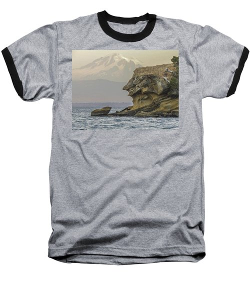 Old Man And The Mountain Baseball T-Shirt