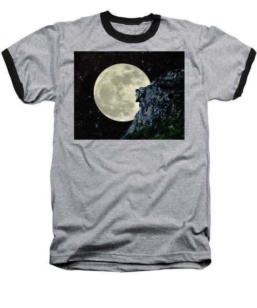 Baseball T-Shirt featuring the photograph Old Man / Man In The Moon by Larry Landolfi