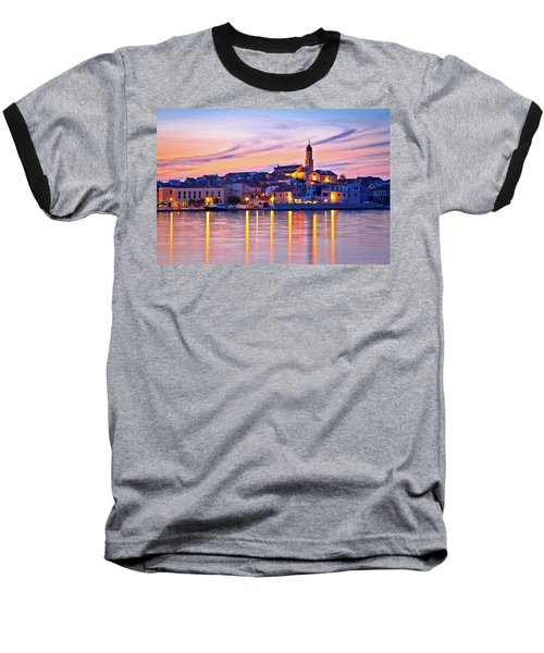 Old Mediterranean Town Of Betina Sunset View Baseball T-Shirt by Brch Photography