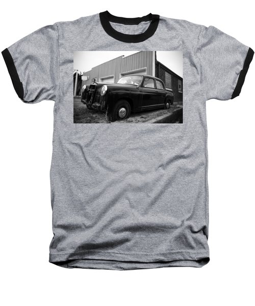 Old Mercedes Sitting At The Shop Baseball T-Shirt by Janice Adomeit