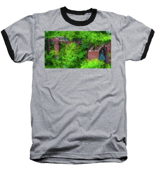 Old Mill Building In Lawrence Massachusetts Baseball T-Shirt