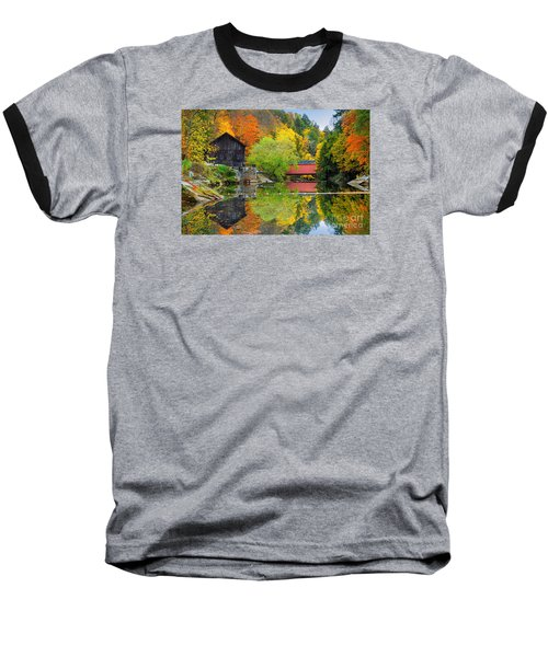 Old Mill In The Fall  Baseball T-Shirt by Emmanuel Panagiotakis