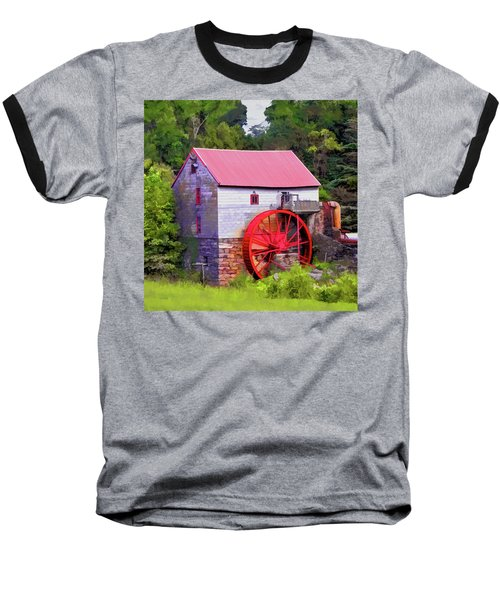 Old Mill Of Guilford Painted Square Baseball T-Shirt by Sandi OReilly