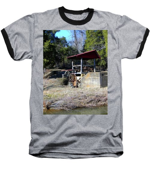 Baseball T-Shirt featuring the photograph Old Mill Of Guilford Pumphouse by Sandi OReilly