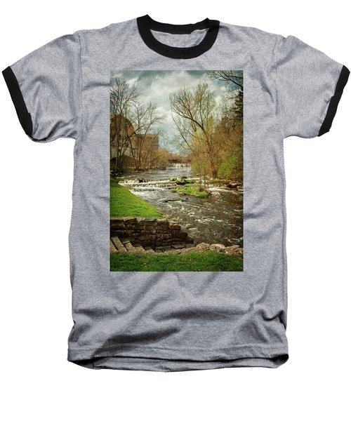 Old Mill On The River Baseball T-Shirt
