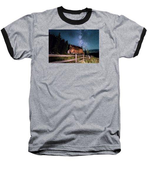 Old Mining Camp Under Milky Way Baseball T-Shirt