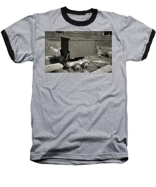 Old Mining Cart Baseball T-Shirt