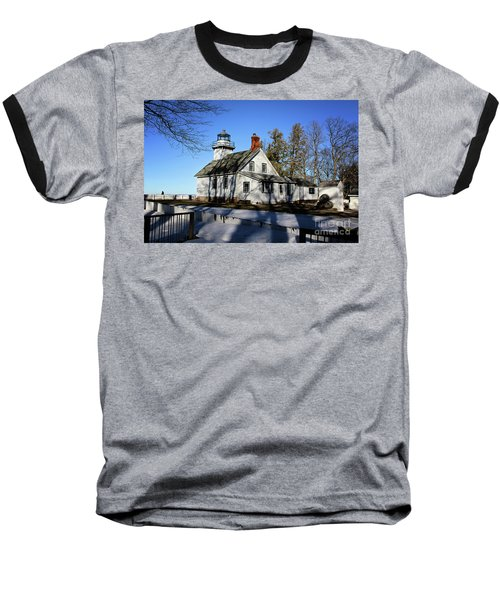Old Mission Lighthouse Baseball T-Shirt