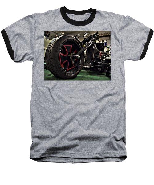 Old Motorbike Baseball T-Shirt by Tamara Sushko