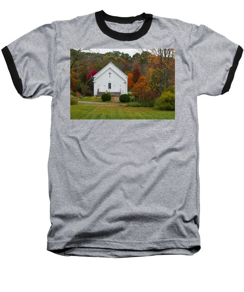 Old New England Church Baseball T-Shirt