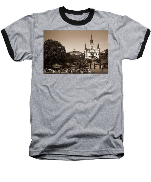Old New Orleans Photo - Saint Louis Cathedral Baseball T-Shirt
