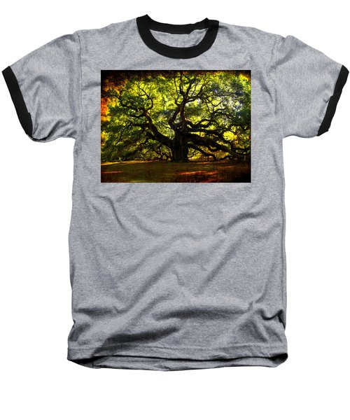 Old Old Angel Oak In Charleston Baseball T-Shirt