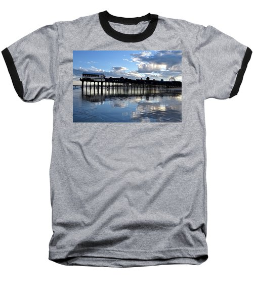 Old Orchard Beach Pier Baseball T-Shirt