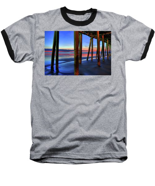 Baseball T-Shirt featuring the photograph Old Orchard Beach Pier -maine Coastal Art by Joann Vitali