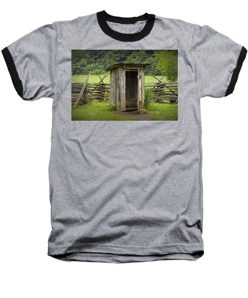 Old Outhouse On A Farm In The Smokey Mountains Baseball T-Shirt