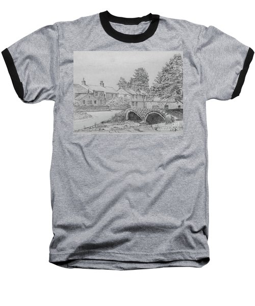 Old Packhorse Bridge Wycoller Baseball T-Shirt by Anthony Lyon
