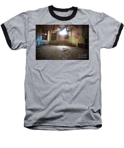 Old Paint Shop Baseball T-Shirt by Randall Cogle