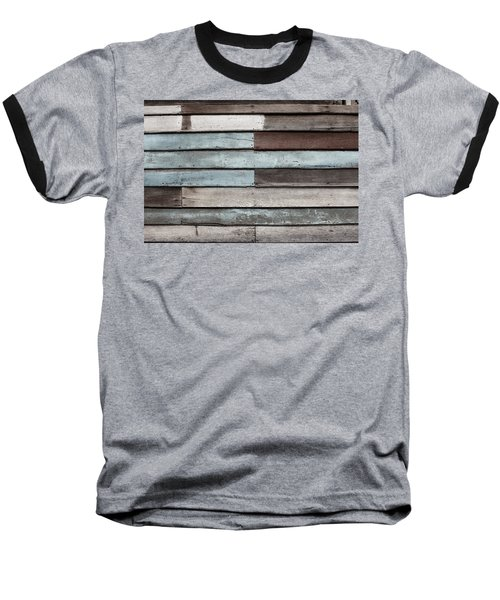 Old Pale Wood Wall Baseball T-Shirt