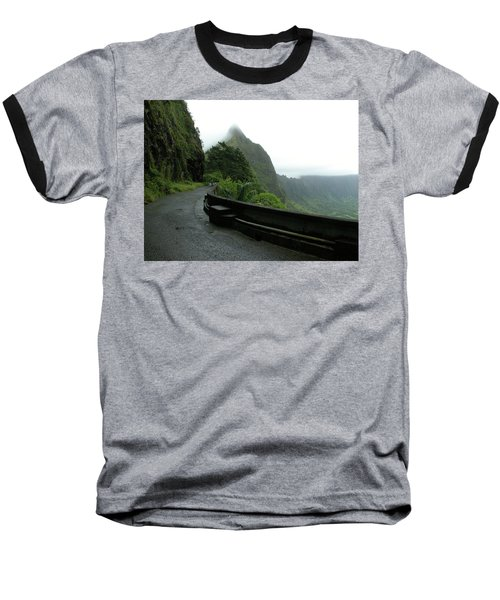 Baseball T-Shirt featuring the photograph Old Pali Road, Oahu, Hawaii by Mark Czerniec