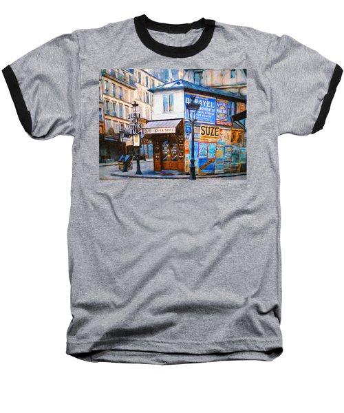 Old Paris Cafe Baseball T-Shirt