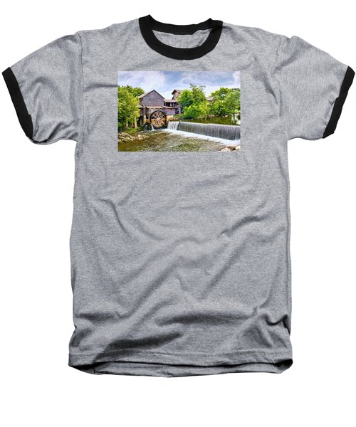 Old Pigeon Forge Mill Baseball T-Shirt by Scott Hansen