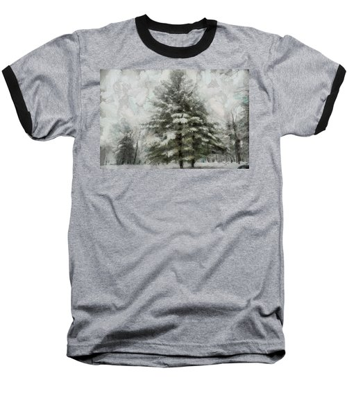 Baseball T-Shirt featuring the mixed media Old Piney by Trish Tritz