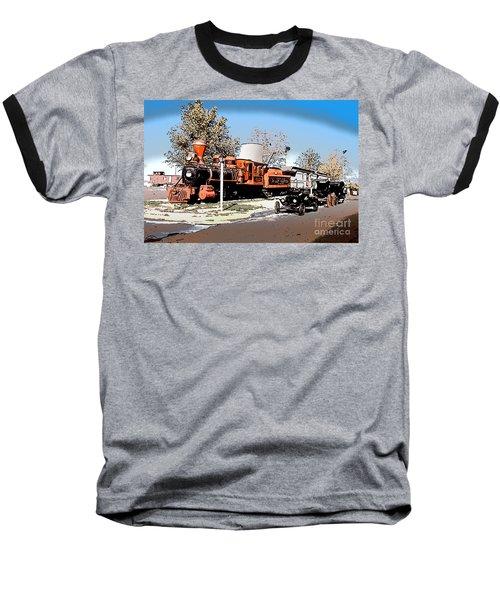 Old Pioneer Train Western Village Las Vegas Baseball T-Shirt
