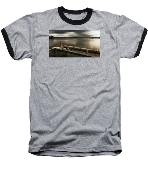 Baseball T-Shirt featuring the photograph Old Pipe Line 01 by Kevin Chippindall