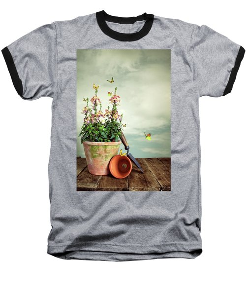 Old Plant Pot Baseball T-Shirt