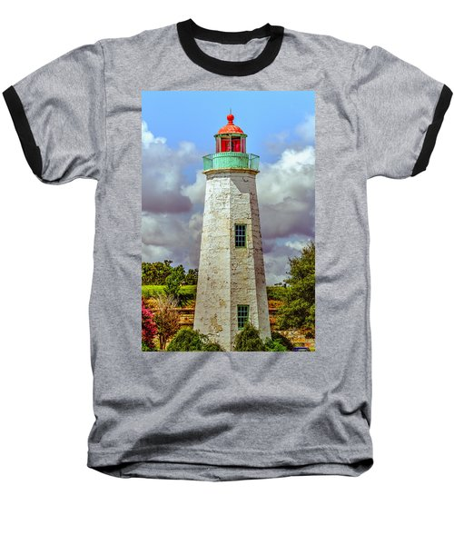 Old Point Comfort Lighthouse Baseball T-Shirt