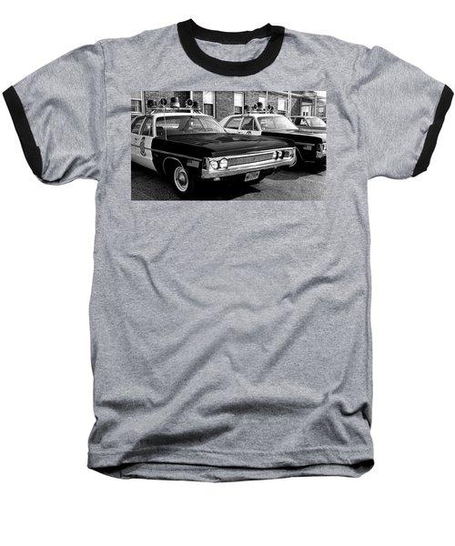 Old Police Car Baseball T-Shirt by Paul Seymour