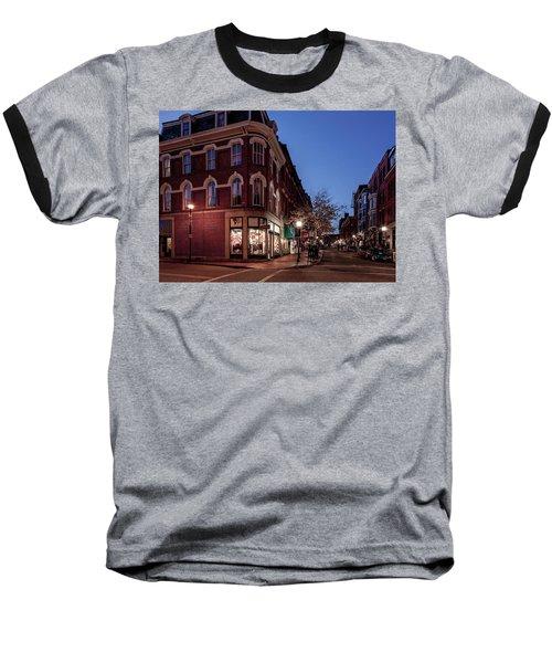 Old Port, Portland Maine Baseball T-Shirt