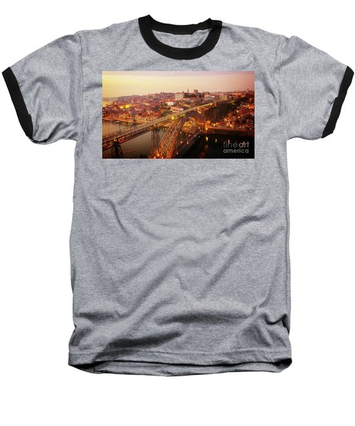 old Porto at  Pink Sunset, Portugal Baseball T-Shirt