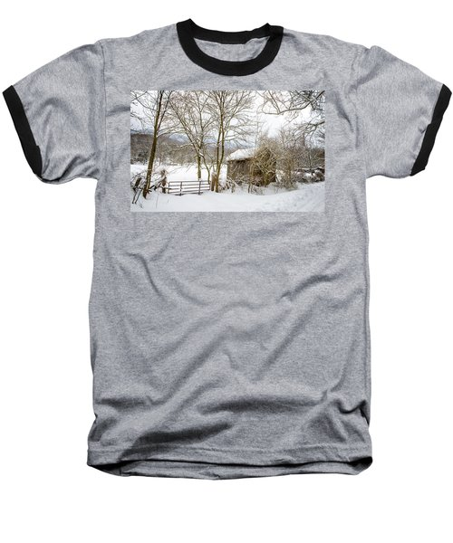 Old Post Office In Snow Baseball T-Shirt