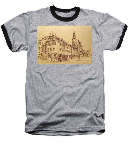 Old Poznan Drawing Baseball T-Shirt