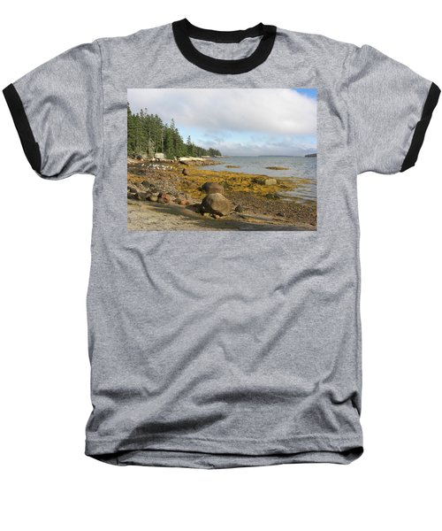 Old Quarry Beach, Stonington, Me Baseball T-Shirt